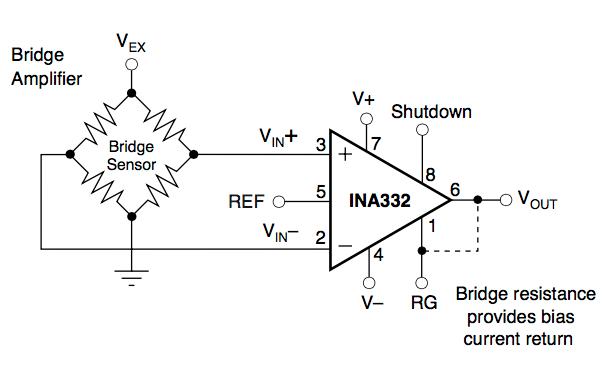 wheatstone bridge amplifier circuit
