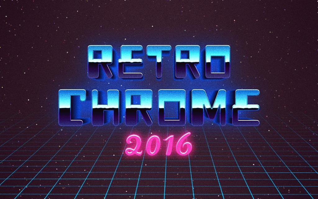 How to make retro 80\u0027s chrome text in GIMP? - Graphic Design Stack