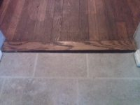 How can I fill this gap between two areas of flooring ...