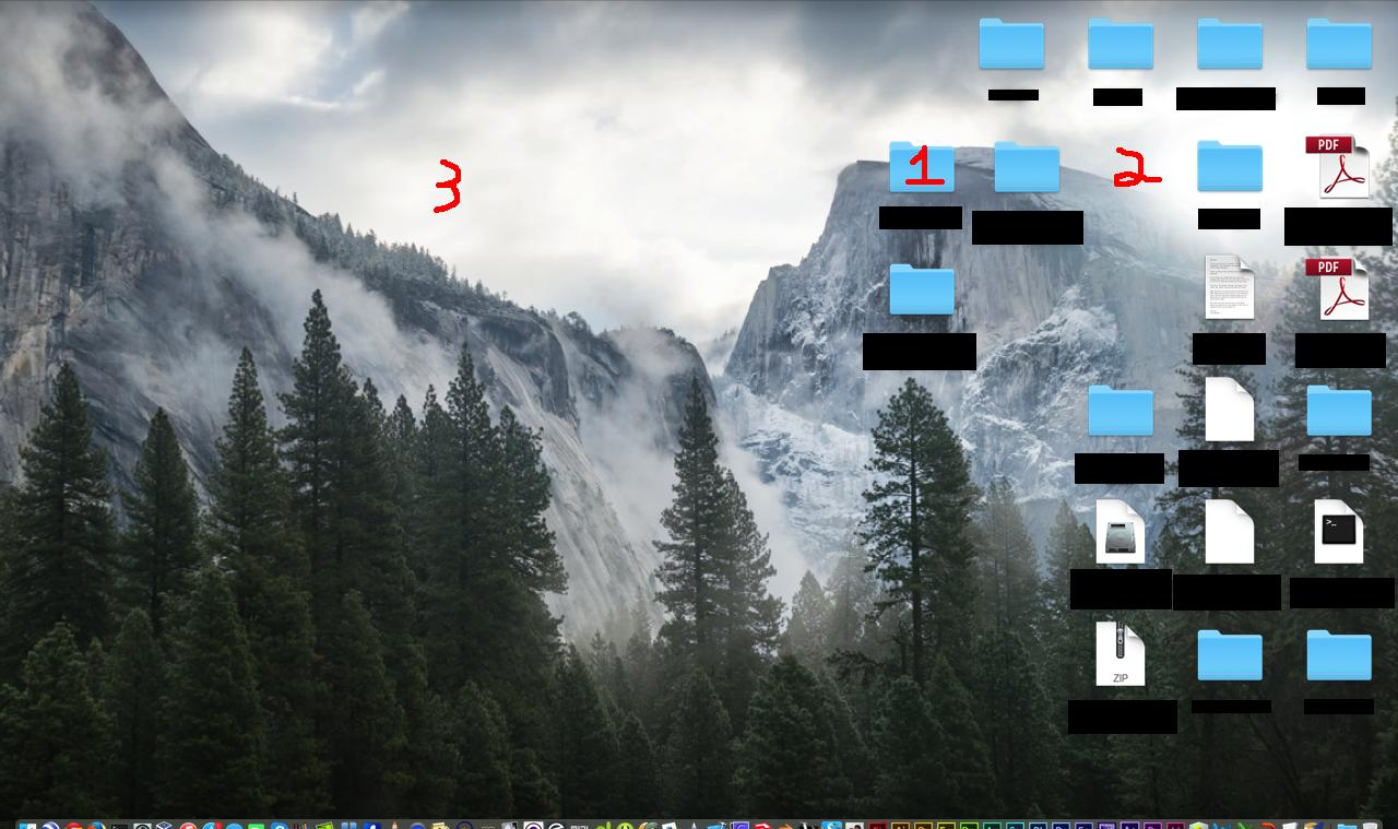 Mac Schreibtisch Macos Os X Yosemite Desktop Icon Positioning Problems Ask