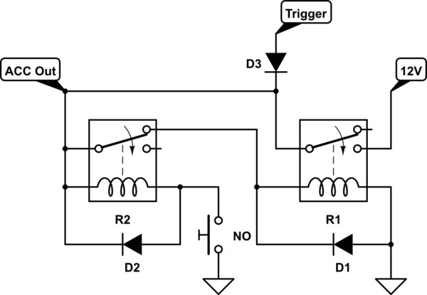 relay hold in circuit