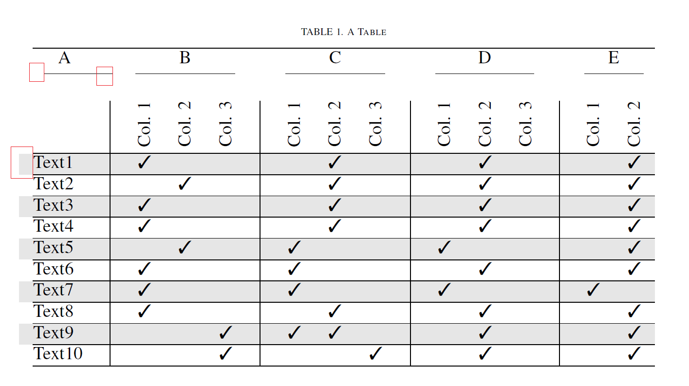 Formatting Table Format Shifted Cmidrule And Column