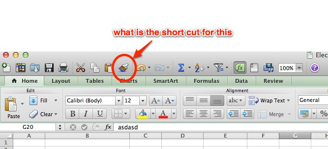 ms office - What is Format Painter shortcut in Excel 2011 for Mac