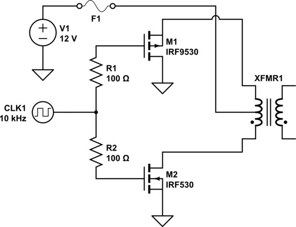 p channel mosfet circuit diagram