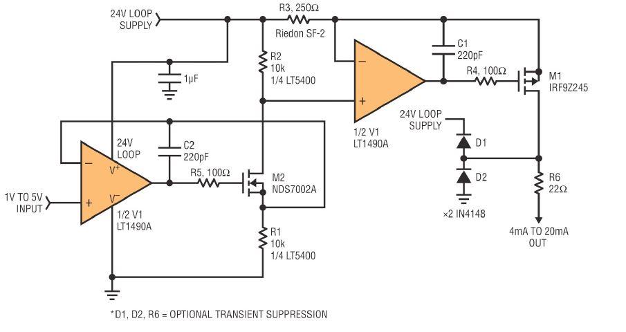 4 20ma source circuit diagram