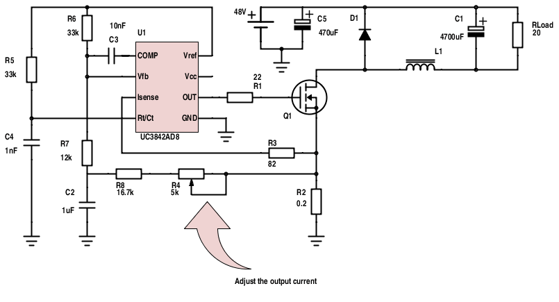 3842 pwm power supply application note datasheet and application