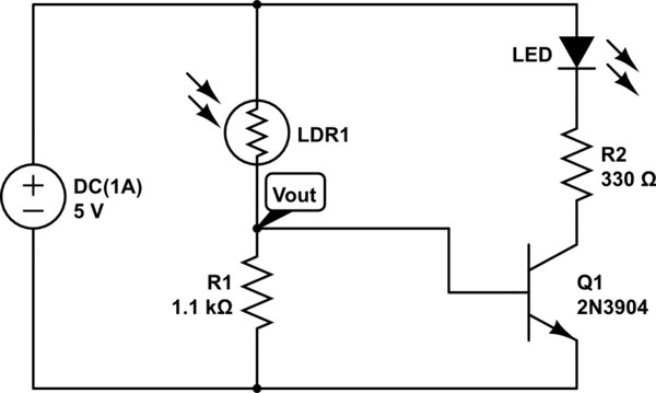 voltage divider circuit calculator for ldr