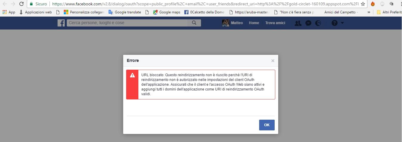 OAuth Facebook Login doesn\u0027t work - Stack Overflow