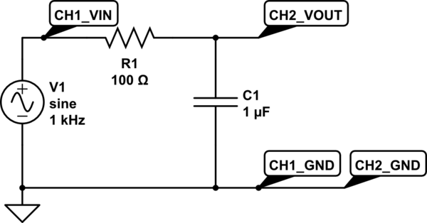 circuit simulator lowpass filter