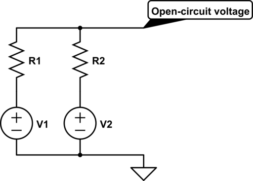 voltage open and short circuit questions