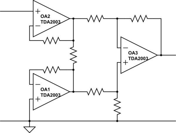 tda2003 amplifier circuit schematic