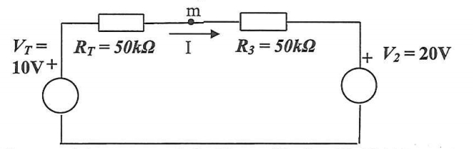 current - Direction of resulting I through simple circuit with 2