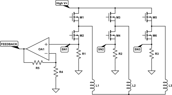 high side current monitor schematic