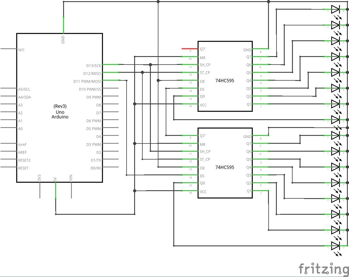 arduino shiftout