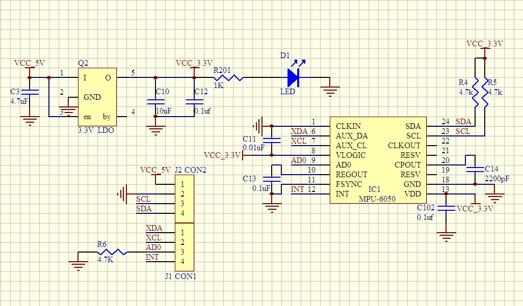 Wiring a GY-521 to an Arduino Uno R3? - Electrical Engineering Stack