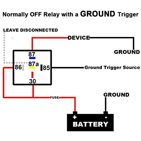 motorcycle - Run switch - 4 pin relay set up with 3 wires - Motor