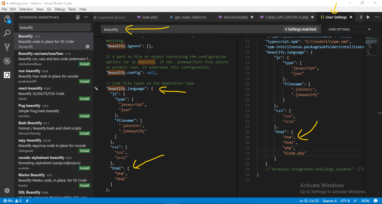 Vs Code Select Line Shortcut How To Format Php Files With Html Markup In Visual Studio