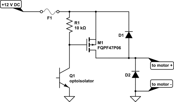 circuitlab high side mosfet driver
