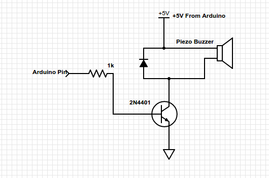 the schematic symbol for a piezo speaker