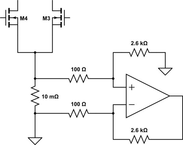 differential current sensing inside h bridge