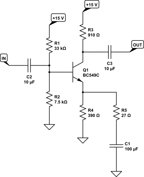 circuitlab common emitter amplifier