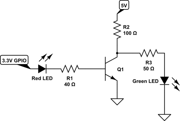 red green led circuit