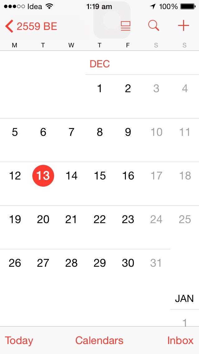 iOS Calendar showing year as 2559 BE - Ask Different