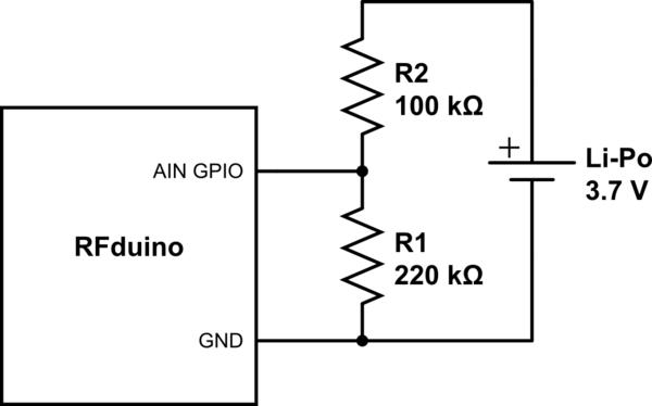 simple resistive voltage divider circuit