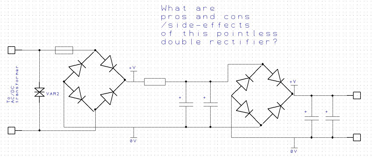 series diode configuration with dc inputs