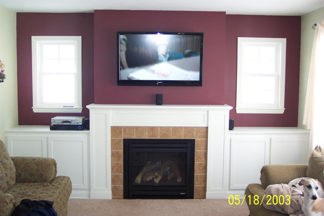 Photos Of Tv Mounted Over Fireplace How Should I Run Wiring For My Above Fireplace Mounted Tv