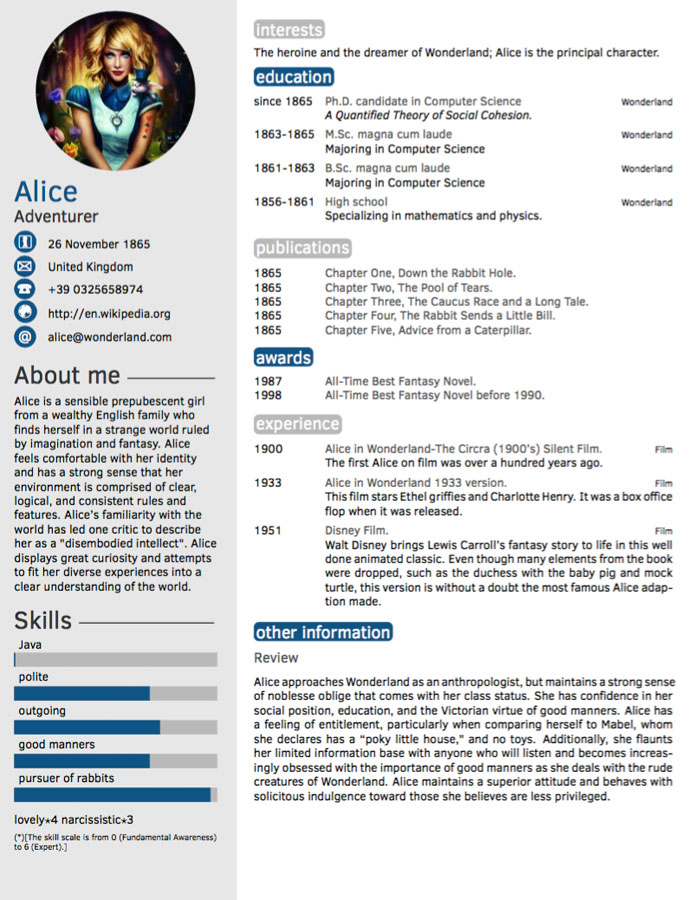 Fancy Resume Template | ophion.co