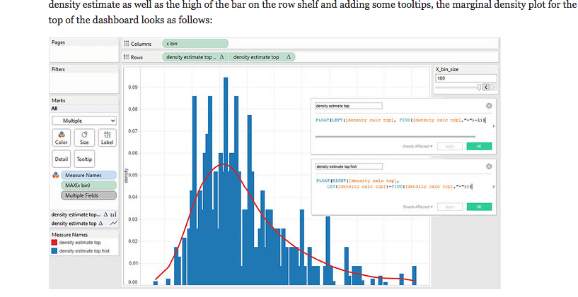 Tableau Density Plot Histogram Without Using R
