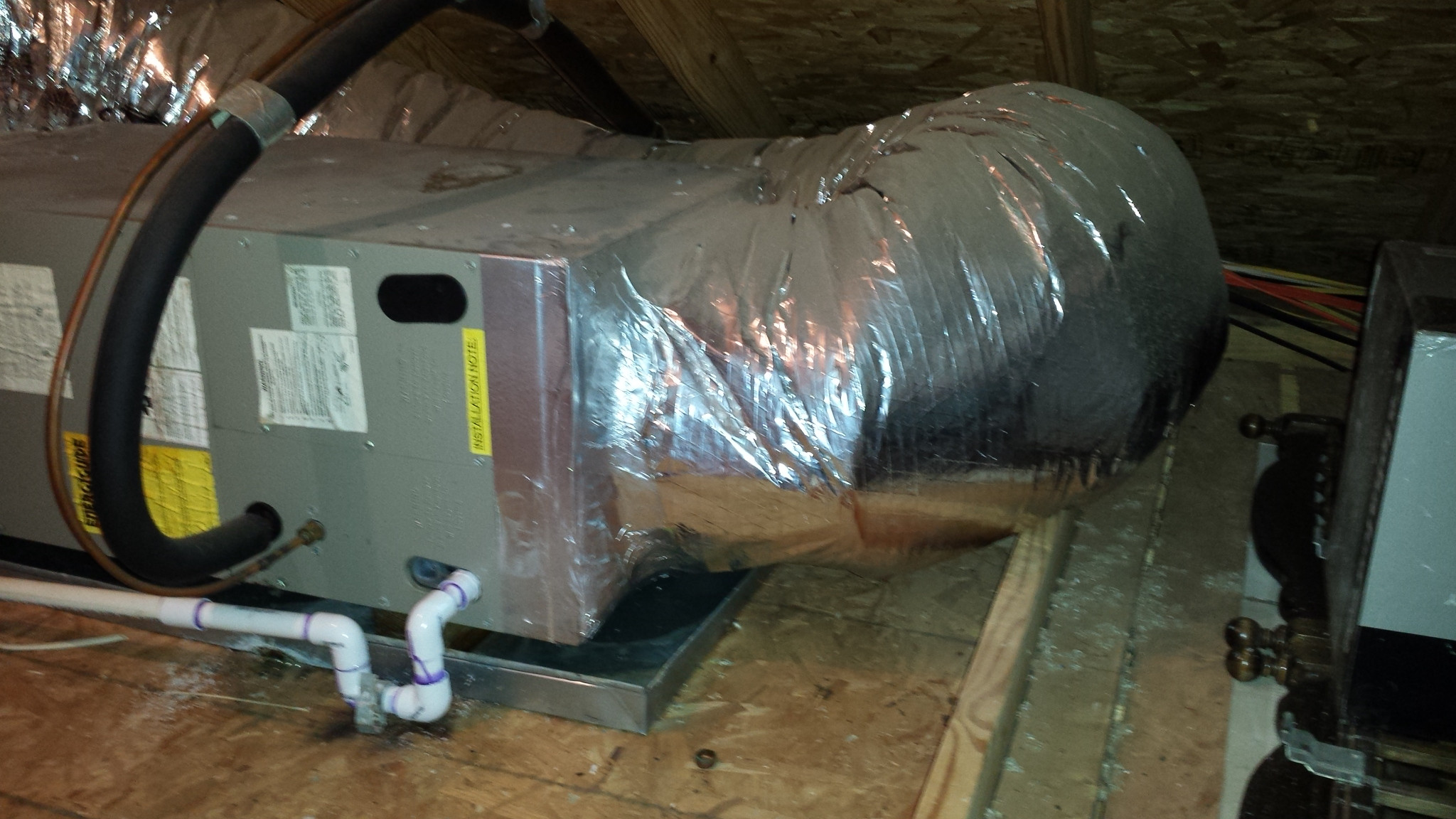 Garage Attic Air Conditioner How Can I Replace The Plywood Under My Air Handler Home