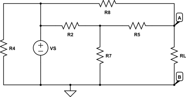 image for a find the equivalent resistance of the following circuit