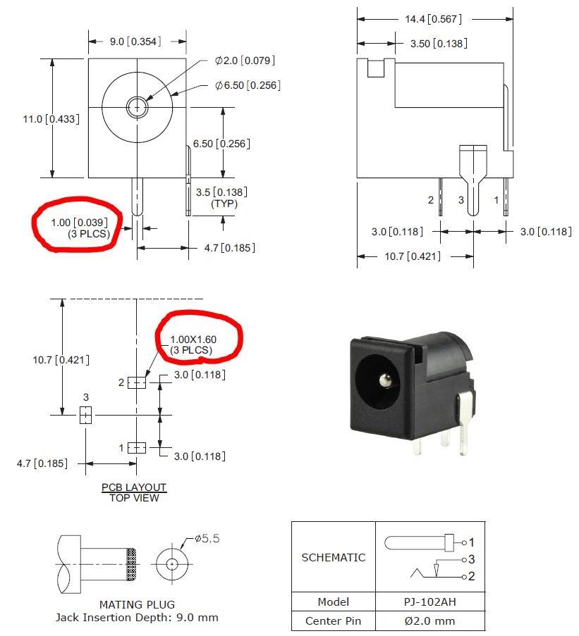 closed barrel jack wiring