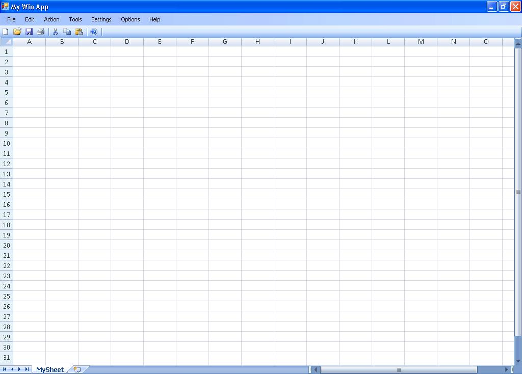 Blank Excel Spreadsheet - C # ile Web\u0027 e Hükmedin!