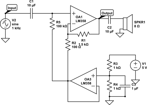 op amp my simple audio amplifier circuit does not work electrical