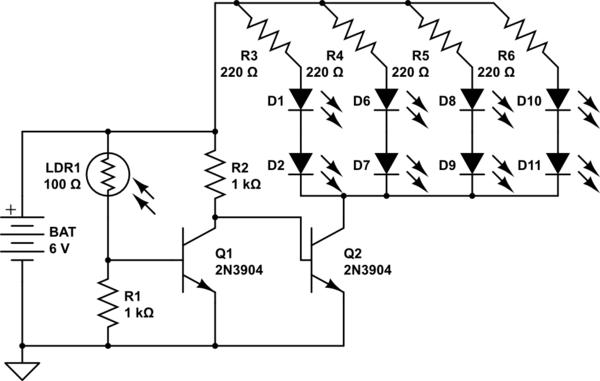 led circuit resistor
