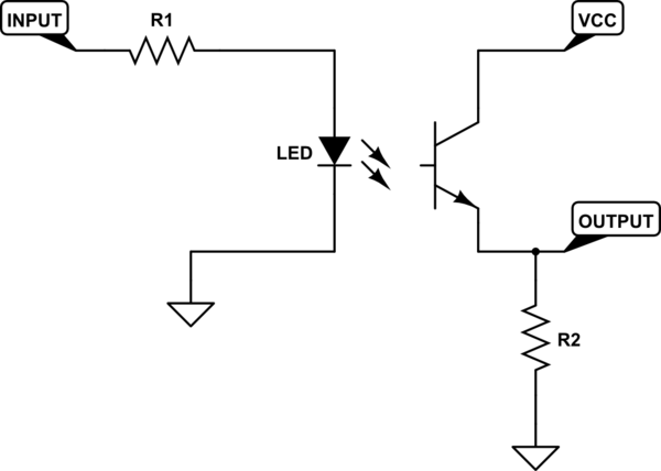 how to set up a photo interrupter or slotted optical switch on the