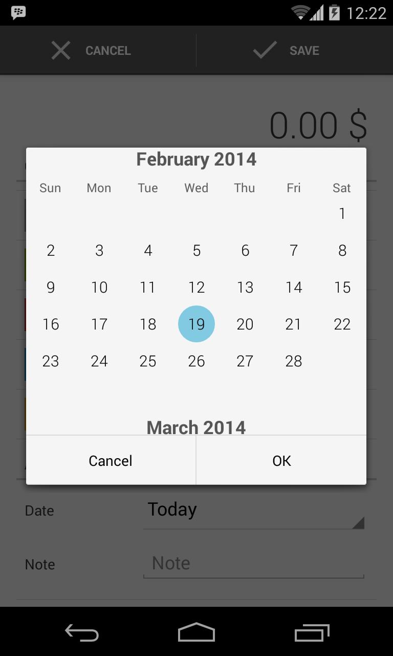 Quick Calendar Widget Randomorg Web Widgets Custom Android Calendarview Stack Overflow