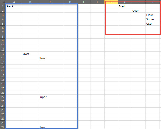Excel, Delete blank rows without shifting data - Super User