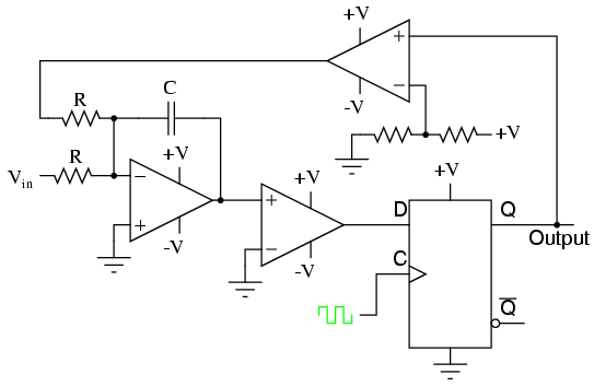 an op amp with discrete components