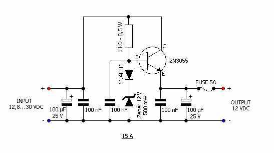 12 Volt Voltage Regulator Wiring Diagram Wiring Schematic Diagram
