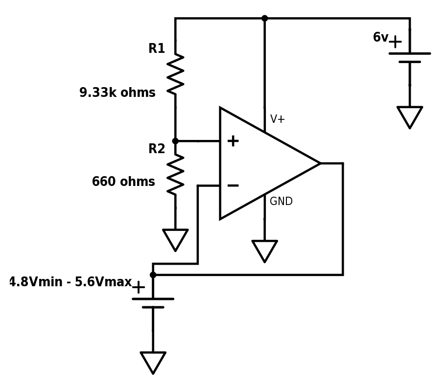 electronic circuit op amp comparator