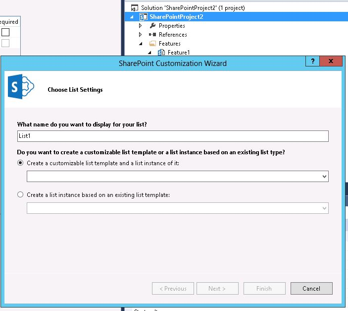 Missing SharePoint list template in Visual Studio 2013 - Stack Overflow - sharepoint list template