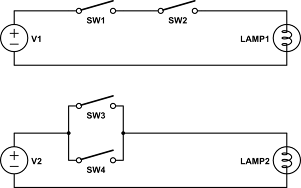 spst switch bedradings schema