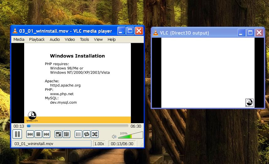 vlc media player - VLC opening direct 3d output windows - Super User