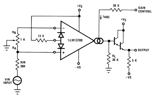 voltage controlled variable gain amplifier