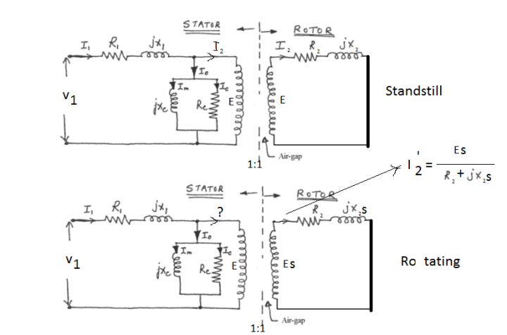 Equivalent circuit diagram of 3 phase induction motor equivalent circuit of a three phase induction motor electrical swarovskicordoba Images