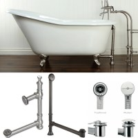 plumbing - How to drain a free standing bathtub - Home ...